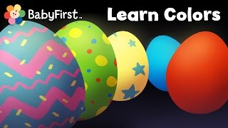 Surprise Eggs - Learn Colors | Opening Magic Eggs & learning colors | Color Egg Song Compilation