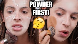 APPLYING POWDER BEFORE FOUNDATION | HIT OR MISS? - Video Youtube