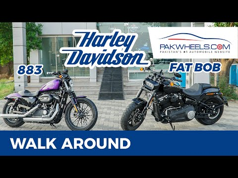 Harley Davidson HD 883 & Fat Bob | Walk around | PakWheels