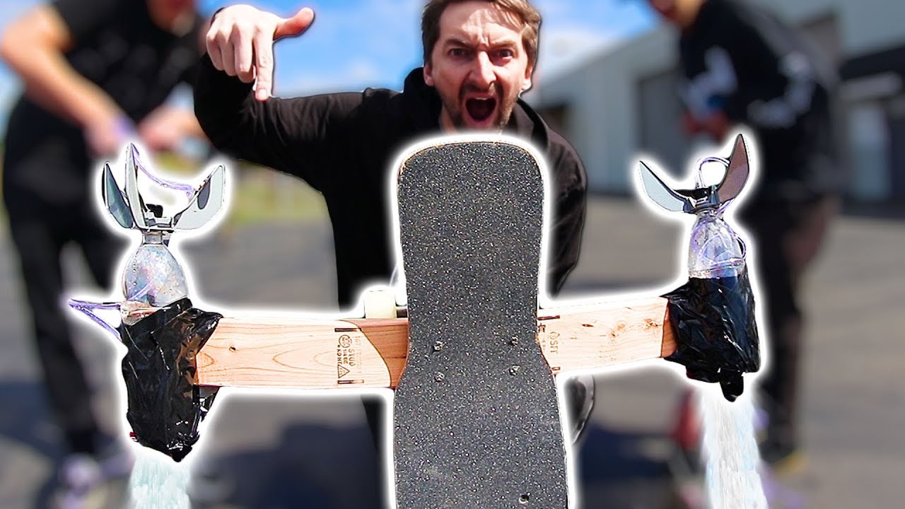 ROCKET POWERED SKATEBOARD EXPERIMENT - Braille Skateboarding