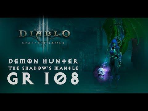 Diablo III - Demon Hunter (The Shadow's Mantle (Мантия тени) - 50000%) | GR 108 - Before season 16