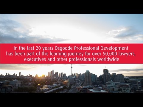 OsgoodePD | A world leader in legal lifelong learning