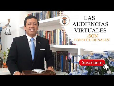 LAS AUDIENCIAS VIRTUALES ¿Son Constitucionales? - Tribuna Constitucional 156