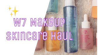 W7 MAKEUP SKINCARE HAUL   W7 SKINCARE PRODUCTS REVIEW   ARE THEY DUPES?   The Luscious Vlogcast