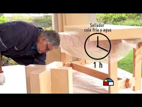 ¿Cómo revestir un mueble de madera en hormigón?