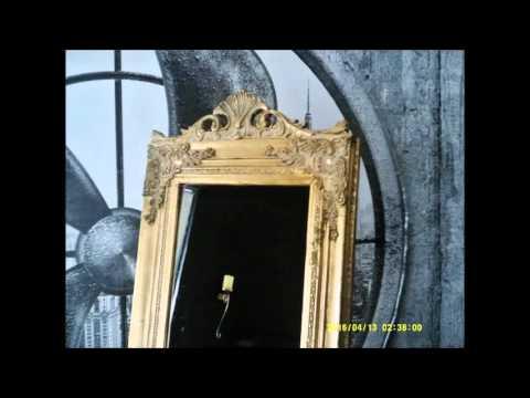 Goldfarbener Barock Standspiegel !! EYE CATCHER !!