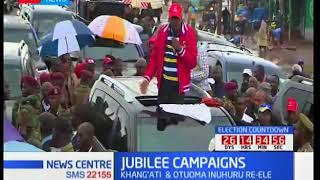 President Uhuru leads Jubilee as they campaign in Western