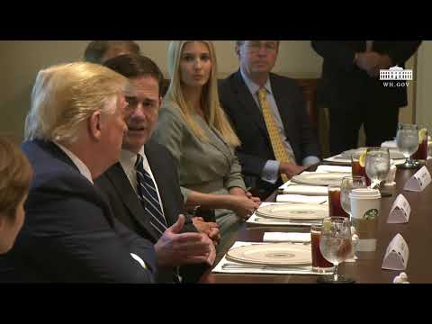 President Trump Has a Working Lunch with Governors on Workforce Freedom and Mobility