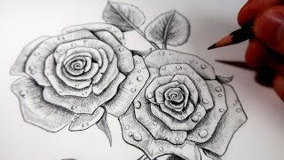Dessin rose facile videos - Belle fleur a dessiner ...