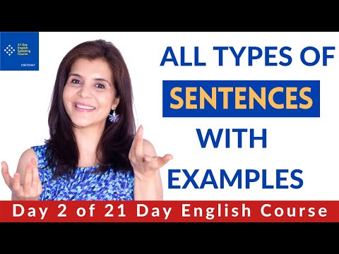 Sentences & Its Types   English Sentence Structure with Example ...