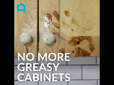 How to Clean Greasy Kitchen Cabinets In Under a Minute