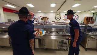 Clip: Mess hall at Coast Guard Training Center Cape May