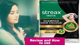 STREAX INSTA SHAMPOO HAIR COLOUR REVIEW & HOW To USE