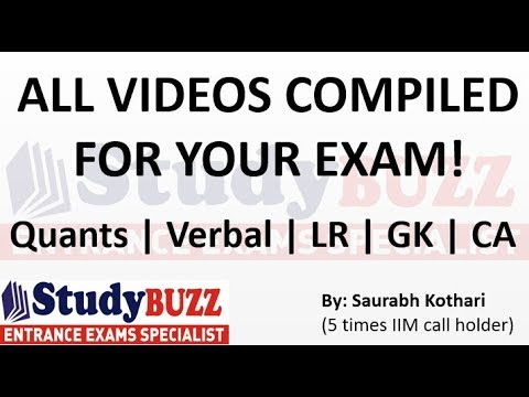 All videos compiled here for your MBA exam!