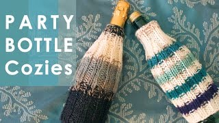 How to Knit BOTTLE COZIES | Easy for Beginning Knitters