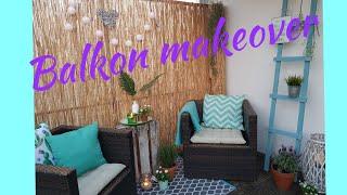 Balkon makeover / Balkon umgestalten / DIY / Balkon verschönern