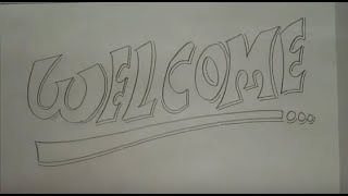 """calligraphy """"WELCOME"""""""