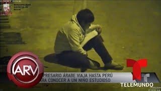 Estudiaba bajo la luz de un poste y un millonario lo sorprendió | Al Rojo Vivo | Telemundo