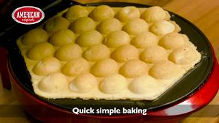 American Originals Bubble Waffle maker