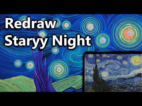 Creating van Gogh's Starry Night with a Compass