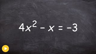ALG2 Unit 3 How to find the discriminant of a quadratic and label the solutions