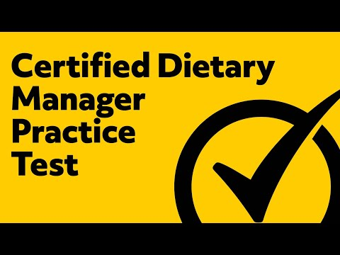 Certified Dietary Manager Practice Test - YouTube