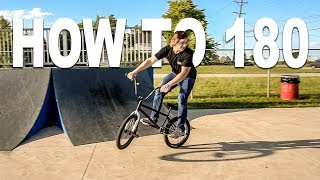 HOW TO 180 BMX !!! The easiest way, for beginners!