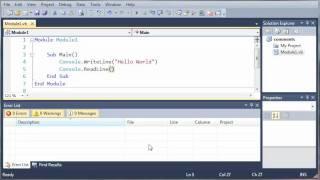Visual Basic Tutorial - 7 - Errors