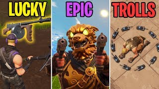 Trapped in a RING of DEATH! LUCKY vs EPIC vs TROLLS - Fortnite Battle Royale Funny Moments