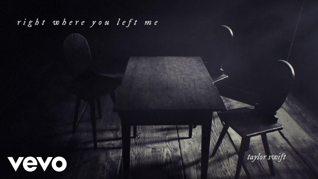 Lirik Lagu Right Where You Left Me - Taylor Swift dan Terjemahan