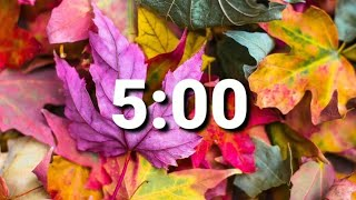5 Minute Fall or Thanksgiving Timer