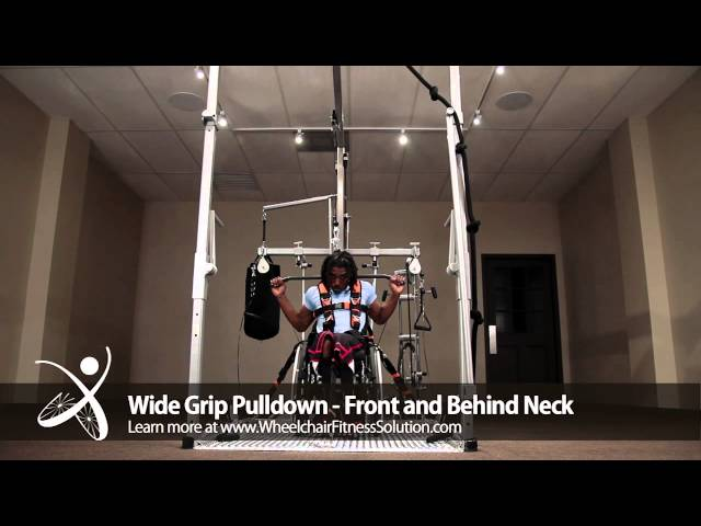 Wheelchair Fitness Solution | Exercise: Wide Grip Pulldown – Front and Behind Neck (29 of 40)