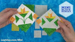 How To Sew Leahs Carolina Lily Quilt Block - Mini Block Monday #12