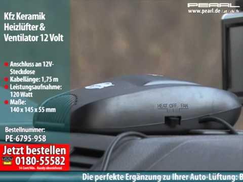 Kfz-Keramik-Heizlüfter & Scheibenenteiser mit 12-Volt-Anschluss