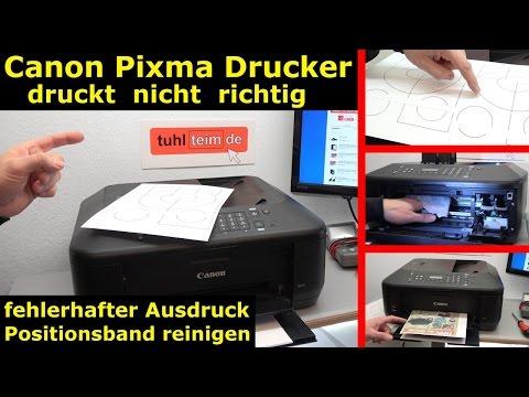 Canon Drucker druckt nicht richtig - [gelöst] - fehlerhafter Ausdruck - [4K Video]