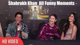 Zero Back To Back Funny Moments | Shahrukh Khan, Katrina, Anushka | Zero Official Trailer Launch