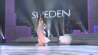 Miss Sweden, Ronnia Fornstedt During Miss Universe Pageant In Mac Duggals Designed Gown