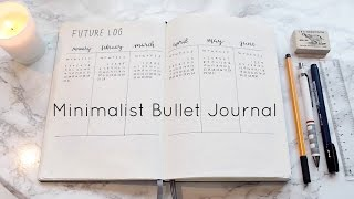 My Minimalist Bullet Journal Set Up