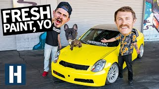 Painting the G35 Gets Weird... And We Lose Another Hood!?