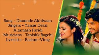 "Dhoonde Akhiyaan (""From Jabariya Jodi"") lyrics - YouTube"