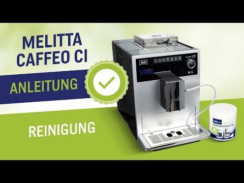 Melitta Caffeo CI Reinigung mit Anleitung - Den Kaffeevollautomat mit Reinigungstabletten reinigen