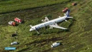 Passagier filmt noodlanding Russisch vliegtuig - RTL NIEUWS