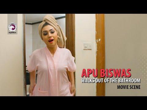Apu Biswas Walks out of the Bathroom | Movie Scene | Shakib khan & Apu Biswas