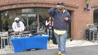 CT emcee Marvalyss performing at Trinity Hip Hop Festival 4-9-16