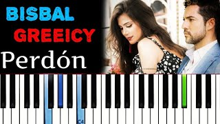 David Bisbal, Greeicy   Perdón | Piano Tutorial Cover
