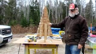DIY Pallet Wood Table Top Christmas Tree