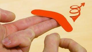 DIY Mini Boomerang Toy! - Video Youtube