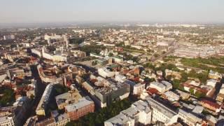 4К Аэросъёмка от ул.Веснина до Полтавского Шляха Kharkiv.Ukraine