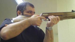 Shooting Weihrauch HW 35 Air-Rifle with custom Ginb stock