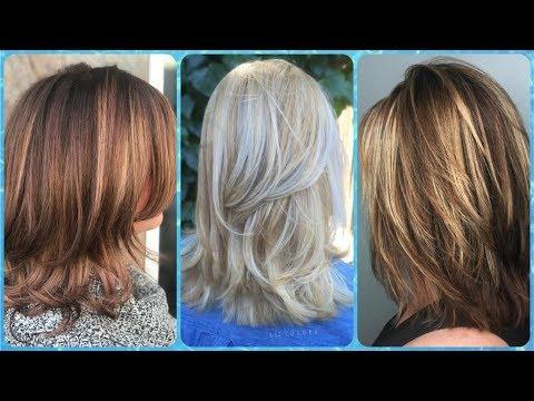 Top 20 modelo de cortes de cabelo medio repicado em camadas